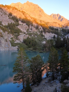 Sunrise over Third Lake
