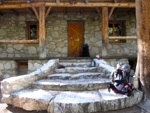 Front porch of Lon Chaney's cabin